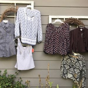 Top Bundle or Resale Lot, 9+ Pcs Size Small Mostly